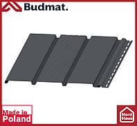 Софит Budmat ( графит ). Панель будмат 3 х 0,34 м. Софит перфорированный.