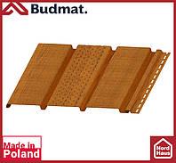 Софит Budmat ( золотой дуб ). Панель будмат 3 х 0,34 м. Софит перфорированный.