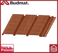Софит Budmat ( орех ). Панель будмат 3 х 0,34 м. Софит перфорированный.