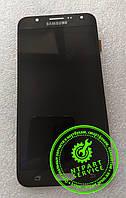 Дисплей модуль Samsung J700 Galaxy J7, черный, с сенсорным экраном, оригинал (переклеено стекло)
