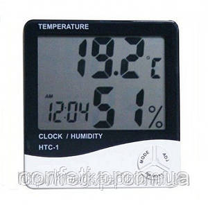 🔥✅ Цифровой термометр часы гигрометр LCD 3 в 1 HTC 1, борометр, комнатный термометр
