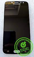 Дисплей модуль Samsung J730 Galaxy J7 (2017), черный, с сенсорным экраном, оригинал (переклеено стекло)