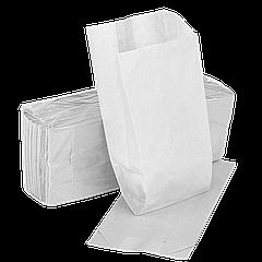 Пакет бумажный 270х140х50мм (ВхШхГ) 40г/м² 100шт (305) Белый (бюджетная серия)