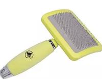 Пуходерка для собак CROCI (Кроучи) Средняя с силиконовой ручкой, 10,5*17,8 см