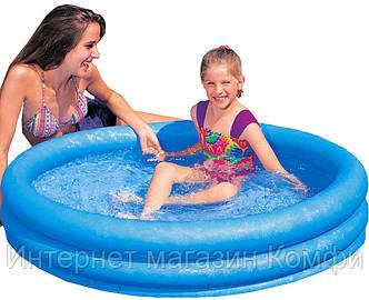 🔥✅ Детский надувной бассейн Intex Кристалл 59416 114x25 см с надувным дном