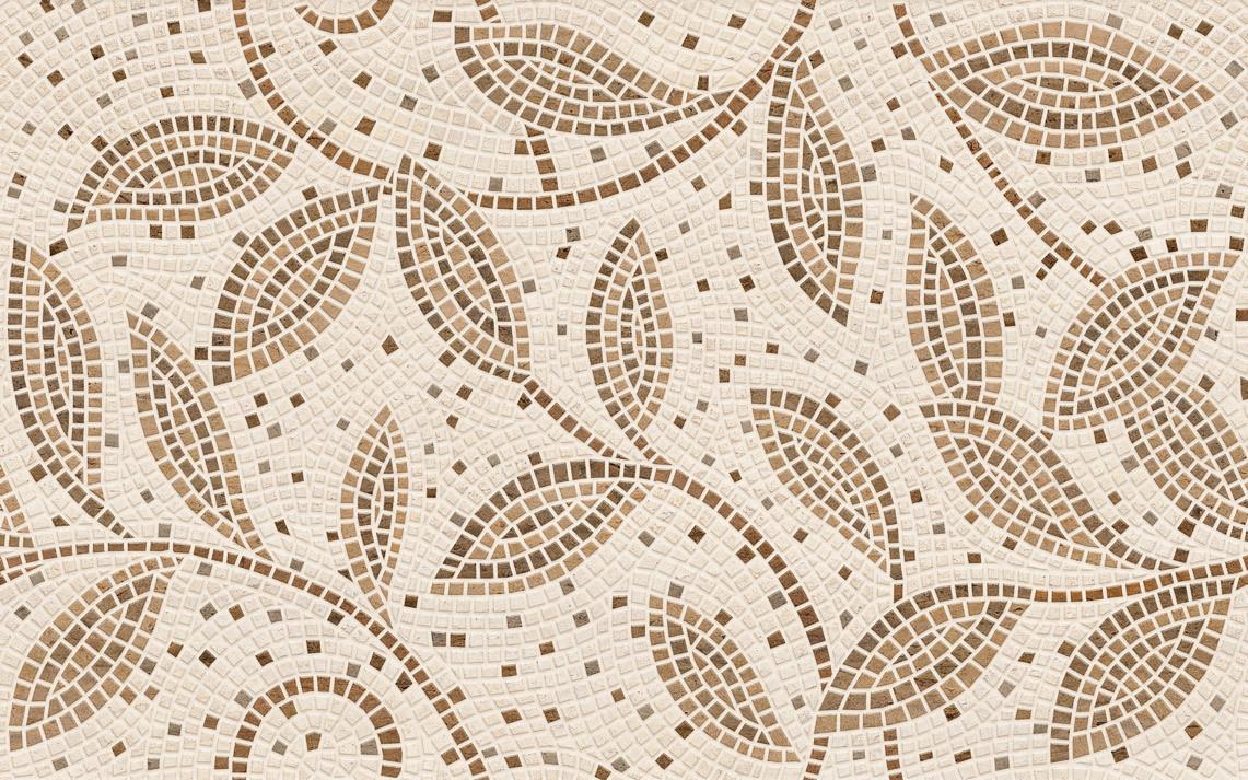 Плитка для стен Travertine Mosaic коричневый декор 250x400x8 мм