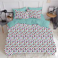Комплект семейного постельного белья LOVE DROP MINT (хлопок, бязь), фото 1