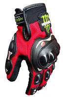 Мотоперчатки полнопалые PRO BIKER красные размер XXL