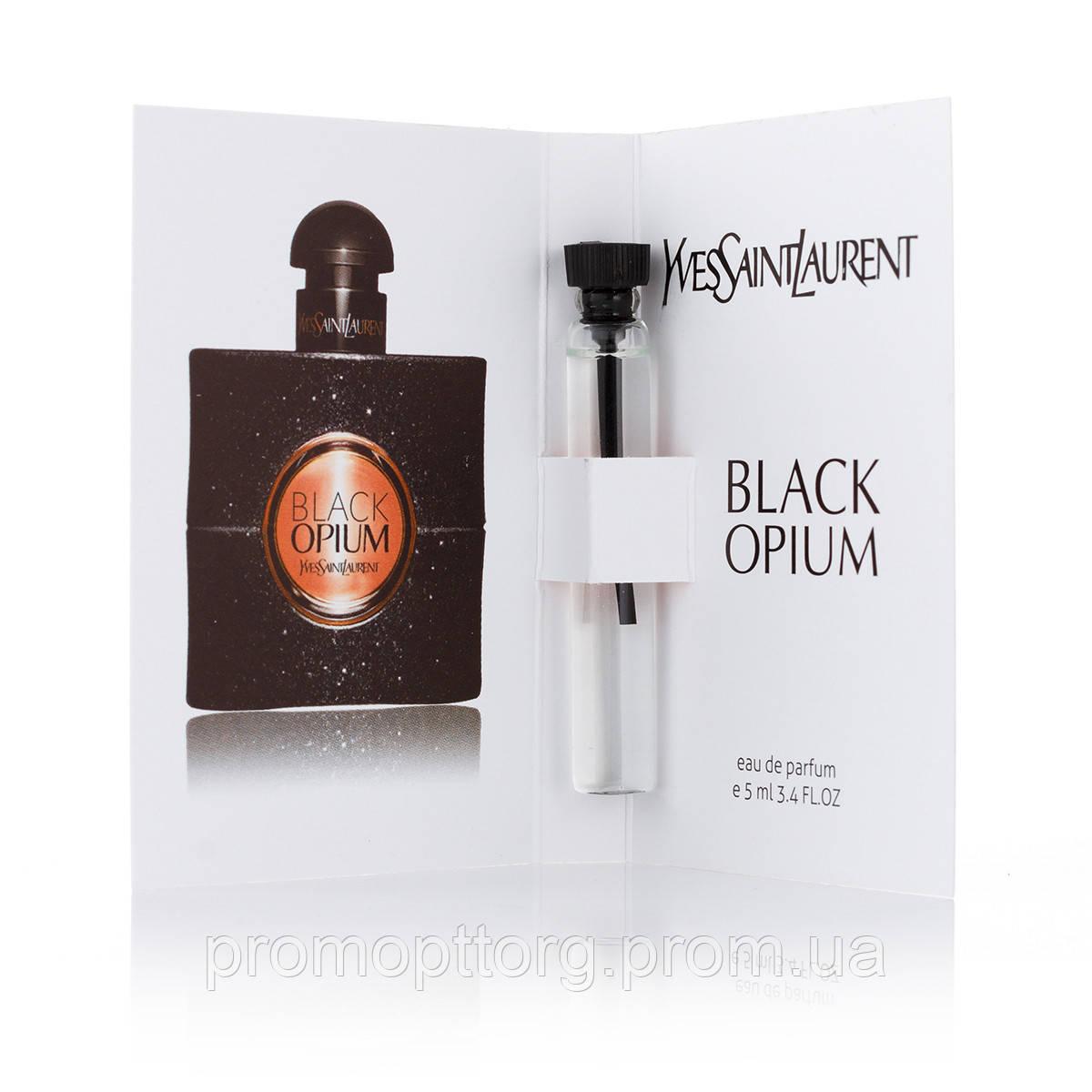 Женская туалетная вода Yves Saint Laurent Black Opium (Ивсент Лоран Блэк Опиум) пробник духов 5 ml (реплика)
