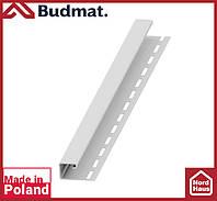 J-планка Budmat ( белый ).J-trim будмат 3 м.