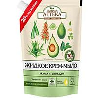 Мыло жидкое Зеленая Аптека 460 мл Алоэ и авокадо