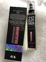 Мужская туалетная вода Carolina Herrera 212 Sexy Men (Каролина Херрера 212 Секси Мэн) тестер 55 ml (реплика)