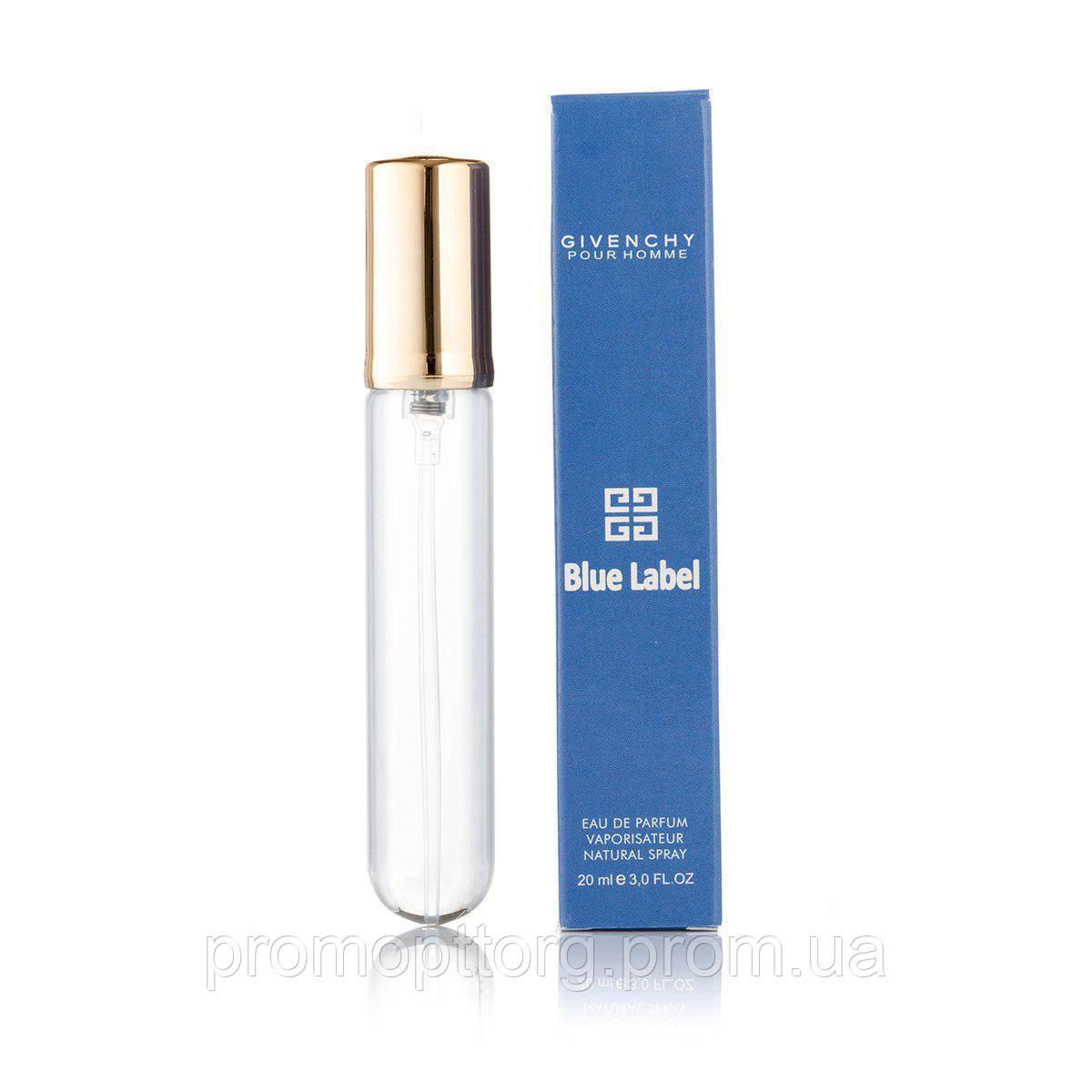 Мужской мини парфюм Givenchy Blue Label 20 ml  (реплика)