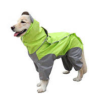 Дождевик для больших собак «Графит», размер 4XL
