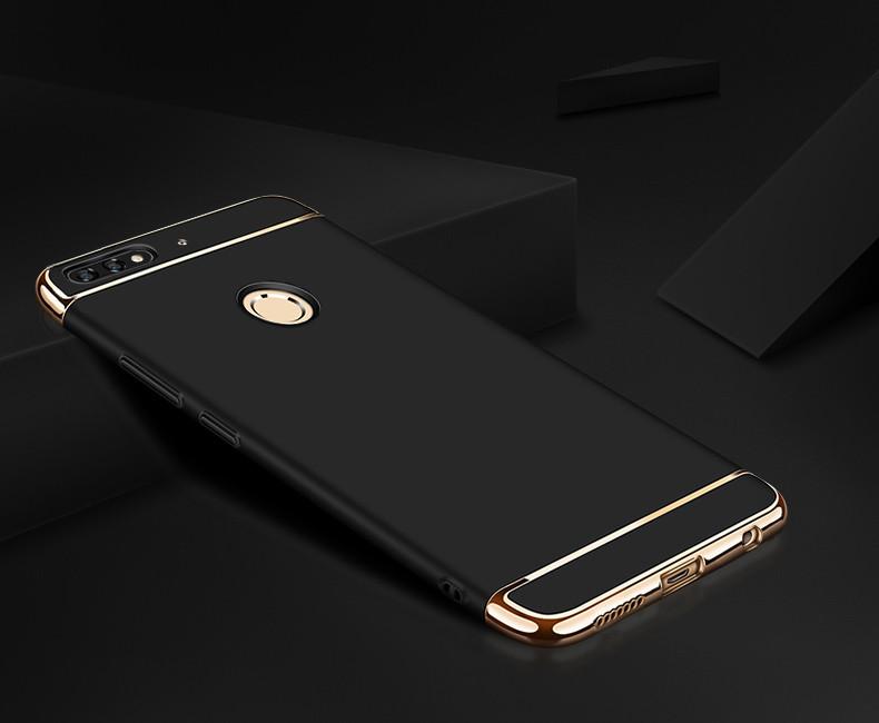 Чехол накладка с золотыми вставками для Huawei Y6 Prime 2018 (разные цвета)