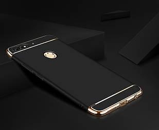 Чохол накладка з золотими вставками для Huawei Y6 Prime 2018 (3 кольори)