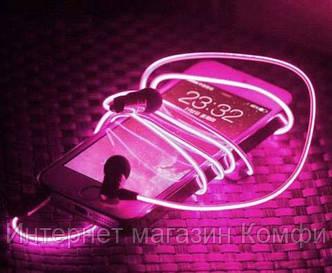 🔥✅ Светящиеся проводные вакуумные наушники с микрофоном Glow MDR 618 Pink пульсируют в такт музыке