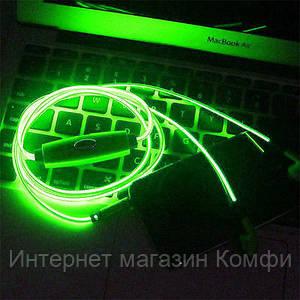 🔥✅ Светящиеся проводные вакуумные наушники с микрофоном Glow MDR 618 Blue пульсируют в такт музыке
