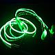 🔥✅ Светящиеся проводные вакуумные наушники с микрофоном Glow MDR 618 Blue пульсируют в такт музыке, фото 5