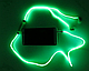 🔥✅ Светящиеся проводные вакуумные наушники с микрофоном Glow MDR 618 Blue пульсируют в такт музыке, фото 6