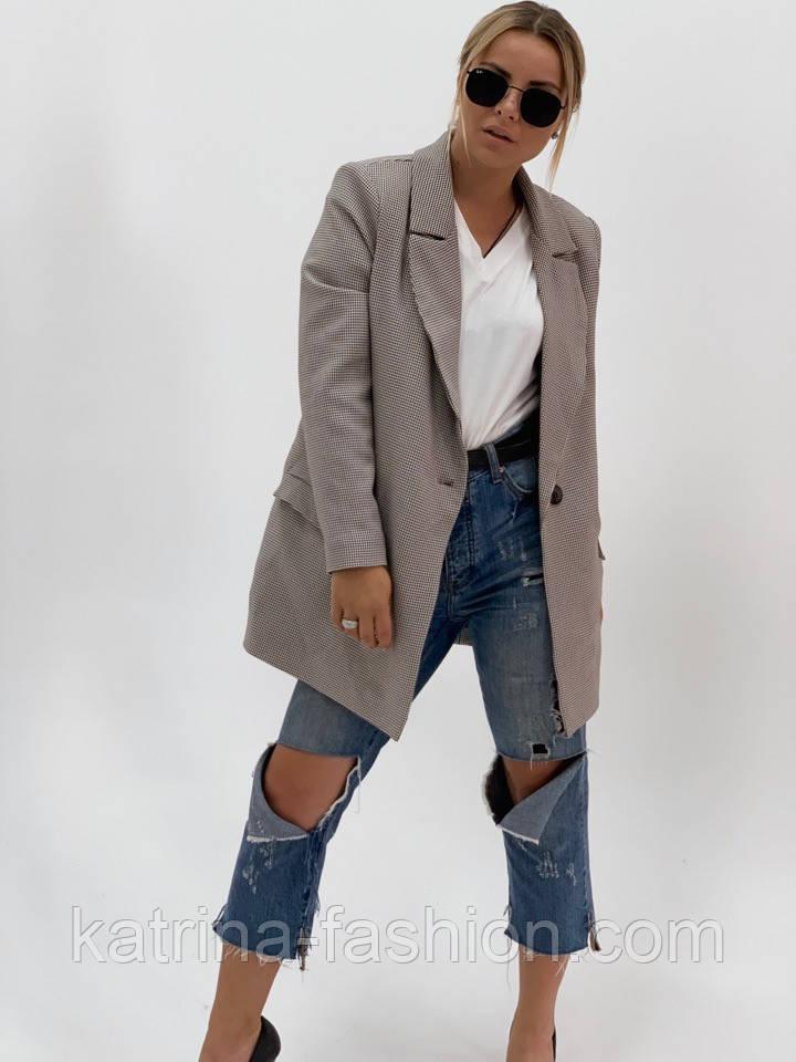 """Женский стильный пиджак (блейзер) свободного кроя в стиле """"с мужского плеча"""" (в расцветках)"""