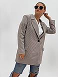 """Женский стильный пиджак (блейзер) свободного кроя в стиле """"с мужского плеча"""" (в расцветках), фото 10"""