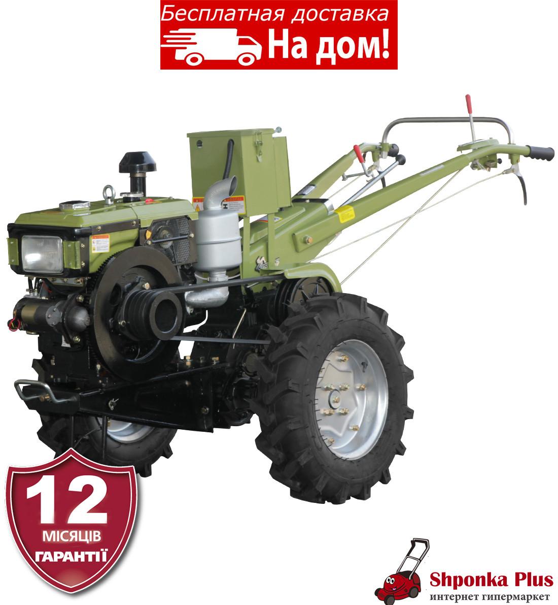 Мотоблок 12л.с., без  фрезы, электростартер Кентавр МБ 1012Е