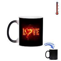Чашка хамелеон Огненная любовь 330мл