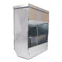 Бункерная кормушка для кроликов 2 отд. метал.