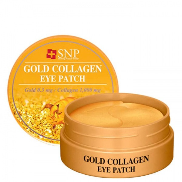 Гидрогелевые патчи для глаз с коллагеном и частицами золота SNP Gold Collagen Eye Patch 60 шт.