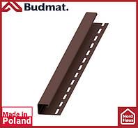 J-планка Budmat ( темно коричневый ).J-trim будмат 3 м.