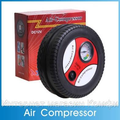 🔥✅ Автомобильный компрессор в форме колеса Air Compressor 260PSI DC - 12V авто компресор насос