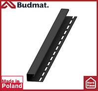 J-планка Budmat ( черный ).J-trim будмат 3 м.