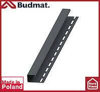 J-планка Budmat ( графит ).J-trim будмат 3 м.