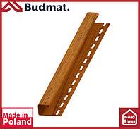 J-планка Budmat ( золотой дуб ).J-trim будмат 3 м.