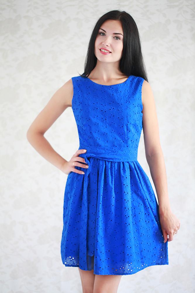 39291fc3c71 Летнее женское платье из прошвы в расцветках  продажа