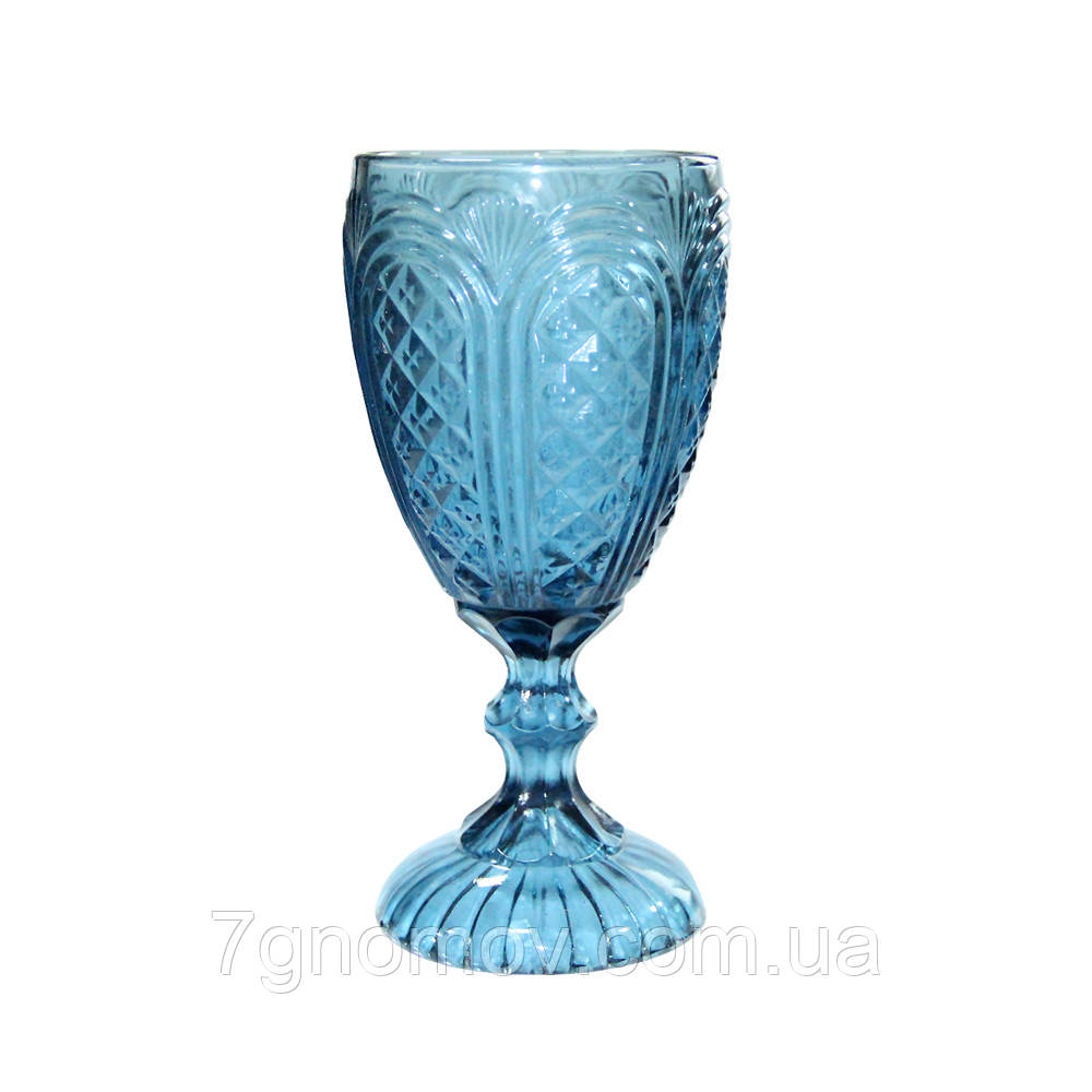 Бокал из синего стекла Русалка 300 мл