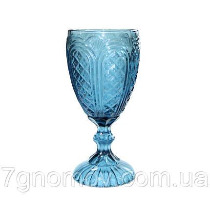 Бокал из синего стекла Русалка 300 мл, фото 2