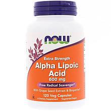"""Альфа-липоевая кислота NOW Foods """"Alpha Lipoic Acid"""" экстра сила, 600 мг (120 капсул)"""