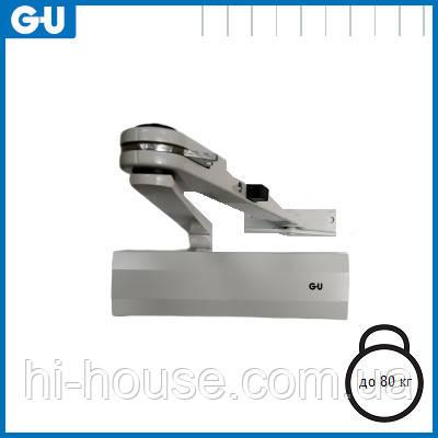 Доводчик GU OTS 210 (коленная тяга фиксацией) белый