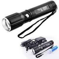 🔥✅ Ультрафиолетовый ручной фонарик Bailong Police BL-7020-2 фонарь на 2 диода ультрафиолет + белый свет