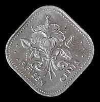 Монета Багамских островов 15 центов 2005 г.