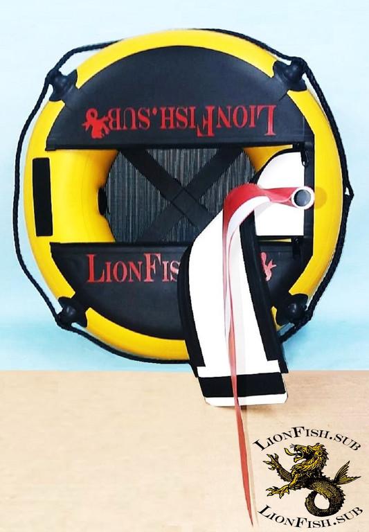 """Буй для дайвинга LionFish.sub """"Freedaiv Lightweight"""". НОВИНКА от украинского производителя LionFish.sub, очень лёгкий, круглый, прочный и долговечный Freediving Buoy для Подводной Охоты и Фридайвинга. Диаметр 65см."""