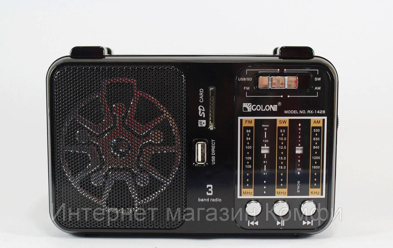 🔥✅ Радиоприемник Golon RX 1428 Колонка MP3 USB