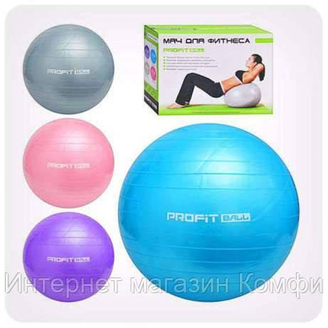 🔥✅ Гимнастический Мяч для фитнеса PROFiT Ball 65 см M 0276 Фитбол