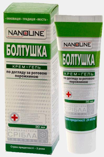 Болтушка крем-гель для полости рта Nanoline, 30 мл