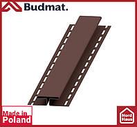 H-планка Budmat ( темно коричневый ). Планка соединительная будмат 3 м.