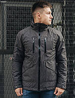 Осенняя мужская тёмно-серая ветровка, куртка Staf point grafit