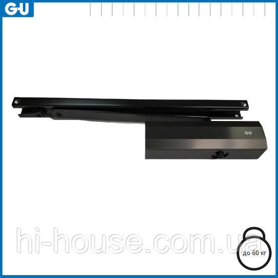 Доводчик GU OTS 210 (тяга з фіксацією) чорний