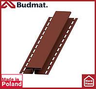 H-планка Budmat ( коричневый ). Планка соединительная будмат 3 м.